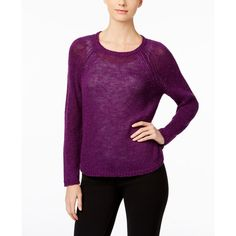 Eileen Fisher Jewel-Neck Sweater ($168) ❤ liked on Polyvore featuring tops, sweaters, raisin, eileen fisher, pullover sweaters, eileen fisher tops, jewel neck top and jewel neck sweater