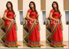Nayanthara_Red_Saree