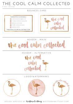 Written by Brittany Design Boutique | Brand Board - The Cool Calm Collected \…