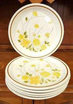 Vintage Camelot Stoneware Spring Meadow Design by HereYonder