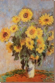 Sunflowers, c.1881 Stretched Canvas Print