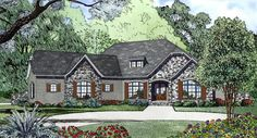 Contemporary   House Plan 82171 - same as other plan except this one the garage is flipped to back of house and this one has 4 bedrooms instead of 3.