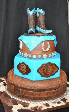 Western Cowgirl Birthday Cake - Cake by Jenny Kennedy