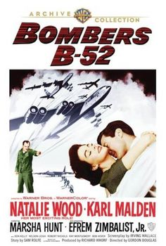 """Natalie Wood, and Karl Malden in """"Bombers 1957 Irving Wallace, Force Movie, Karl Malden, Natalie Wood, Classic Cartoons, Streaming Movies, Film Posters, Warner Bros, Guys And Girls"""