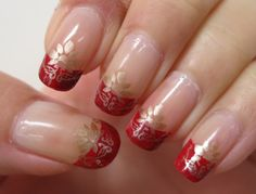 Simple Chinese New Year 2013 French Mani Stamping DressChineseBody ArtNails