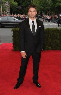 Chace Crawford in Kenneth Cole at the 2012 Met Gala