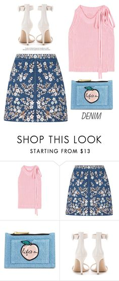"""""""..."""" by yexyka ❤ liked on Polyvore featuring J.W. Anderson, Needle & Thread, Skinnydip and Gianvito Rossi"""