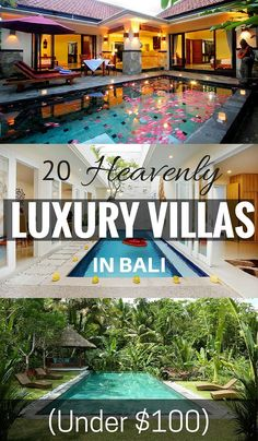 There's nothing like a cheap Bali holiday to get away, relax and unwind without feeling guilty about spending. Luckily, you can also live like a king or queen in luxury accommodation for less than 100 bucks a night. Here are 20 heavenly luxury Bali villas Ubud, Bali Travel Guide, Asia Travel, Croatia Travel, Hawaii Travel, Italy Travel, Travel Tips, Airline Travel, Travel Checklist