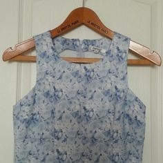 "RAMPAGE Dress Rampage dress in a feminine floral print in light blues and white. Minor flaw shown in 3rd picture.  Great condition. Length 33"" Bust 16"". Dresses"