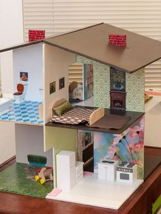 DIY Dollhouse | As promised in the BEFORE Post , this is the reveal of Jessie's ...:
