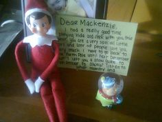 I used elf on the shelf this Christmas but I got an idea to continue it through out the whole year so I got a little elf snow globe and left a note for my little girl that the snow globe was going to be watching her and reporting back to the Twinkle our elf!