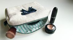 Kosmetiktasche nähen + Schnittmuster + Videotutorial  www.youandiheartdiy.com