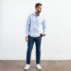 Elk Head Clothing's blue oxford popover.