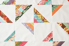"""Butterfly Strands Quilt block tutorial by Fresh Lemons- I like the use of scraps to do the """"strands"""""""