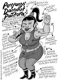 Mice Cartoon, Komik Jakarta - Maret 2014: Penyanyi Dandut Pantura