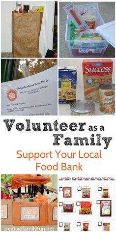 Volunteer As a Family - Support Your Local Food Bank - Creative Family Fun Kindness For Kids, Teaching Kindness, Teaching Kids, Kids Learning, Family Fun Night, Family Support, Kids And Parenting, Parenting Tips, Food Bank
