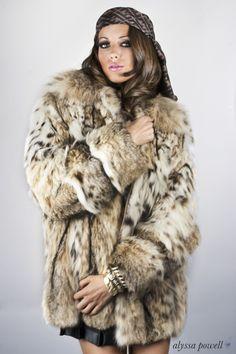 furs on models   lynx fur coat   FABULOUS FURS   Pinterest   Coats