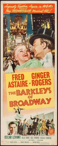 The Barkleys of Broadway (1949) Ginger Rogers and Fred Astaire....Uploaded By  www.1stand2ndtimearound.etsy.com