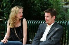 Still of Ethan Hawke and Julie Delpy in Before Sunset
