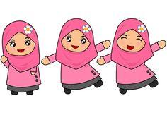 Happy Cartoon, Cute Cartoon, Ramadan, Emoji, Anime Muslim, Hijab Cartoon, Islam For Kids, Cartoon Sketches, Islamic Pictures