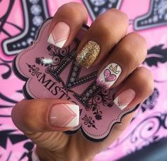 #unasdecoradas New Nail Art, Cute Nail Art, Cute Nails, Pretty Nails, Beautiful Nail Designs, Cute Nail Designs, Hair And Nails, My Nails, Perfect Nails