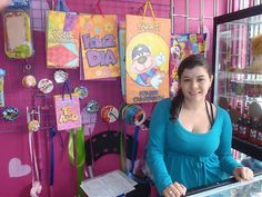 Estefania, a Microcredit Client of Grameen Aval Colombia who used her loan to expand her small gift shop.
