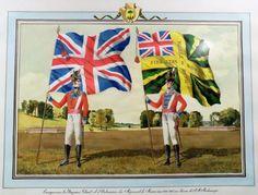Les drapeaux régimentaires- De Meuron's Swiss Regiment- Le régiment suisse de Meuron 1813-1816