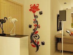 2015 rose bloem wijnstok muurstickers 3d crystal acryl driedimensionale muurstickers toegangsweg tv achtergrond muurschildering in van harte welkom om onze winkelje kan niet mis deze productenProduct details:over on van muurstickers op AliExpress.com | Alibaba Groep
