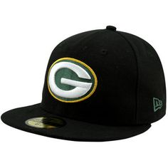 f62c4f53ea1 New Era Green Bay Packers Solid 59FIFTY Fitted Hat - Black Green Bay  Packers Hat