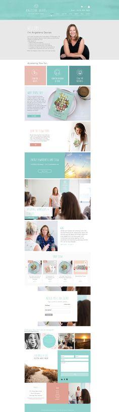 Branding and Website Design for Angelena Davies Flow by CIP Design Studio. Business Branding, Logo Branding, Graphic Design Branding, Logo Design, Service Design, Flow, Custom Design, Web Design, Website