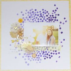 #papercraft #scrapbook #layout LOVE LOVE LOVE by kiahtamatea at @studio_calico #scrapbookprintables