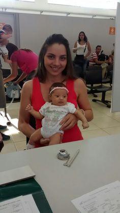 Bebê tirando Rg no Poupatempo em Caieiras (2015)