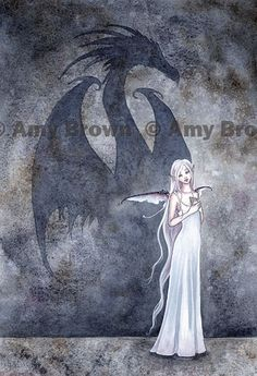 """Dragon Shadow"" PRINTS-OPEN EDITION - Dragons - Amy Brown Fairy Art - The Official Gallery"