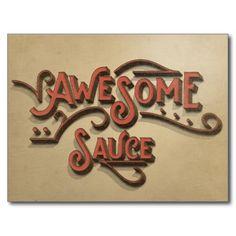 Awesome Sauce Vintage Look Postcard