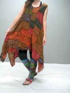 MANE patchwork dress LIMITED EDITION 160.3 by thaitee on Etsy