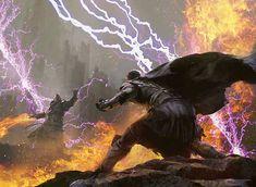 Arcane Melee art by Jaime Jones Battle Mage, Fantasy Battle, Fantasy Rpg, Medieval Fantasy, Fantasy World, Fantasy Concept Art, Fantasy Story, Fantasy Artwork, High Fantasy