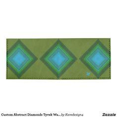 Custom Abstract Diamonds Tyvek Wallet
