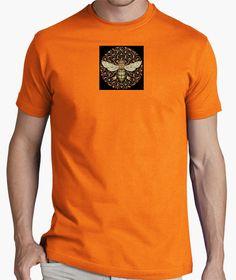 Camiseta colmena humana Hombre, manga corta, naranja