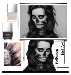 """Halloween nail art // BLACK"" by anduu19 on Polyvore featuring beauty"