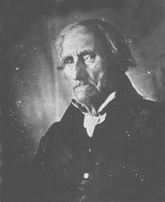 Conrad Heyer, a Revolutionary War Veteran, is thought to be the earliest-born person to be photographed.  Born in 1749, he was 103 when this photo was taken.  He served under George Washington.