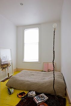 yellow painted floor; stylist katie lockhart