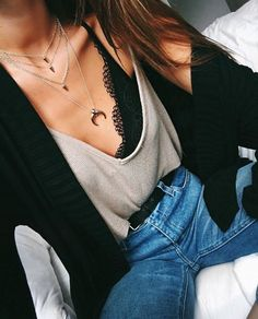Layered necklaces will always be in style!