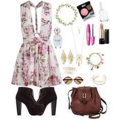 Summer. by smilebehappy0 on Polyvore featuring polyvore fashion style Charlotte Russe Brighton claire's Aéropostale Alexia Crawford Forever 21 Illesteva Carole Chanel Lancôme Essie Marc Jacobs