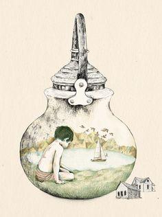 Kettle - print by Gabriella Barouch