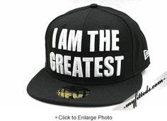 "MUHAMMAD ALI ""I am the Greatest"" Ali Quote New Era Fitted Cap"