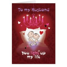 Gay Valentine Husband Fun Couple in Bed Card - romantic gifts ideas love beautiful