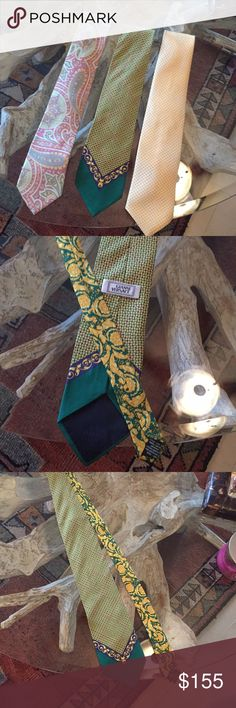 Bundle Gianni Versace and 2 mores ties 3 Gianni Versace, steffano Ricci and Ike Behar bundle Gianni Versace Accessories Ties