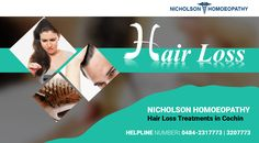 Nichoson Homeopathy provides hair loss treatments in Calicut, Kerala. We also provide baldness treatment for men and women. For more details, visit http://nicholsonhomeopathy.com/.