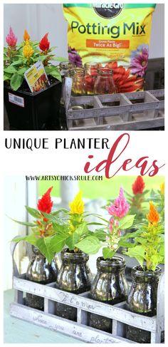 Decorating with Potted Plants - UNIQUE PLANTER IDEAS - artsychicksrule #pottedplants #planterideas