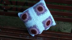 Modern granny square pillow case by CristinaMyCrochet on Etsy, €35.00